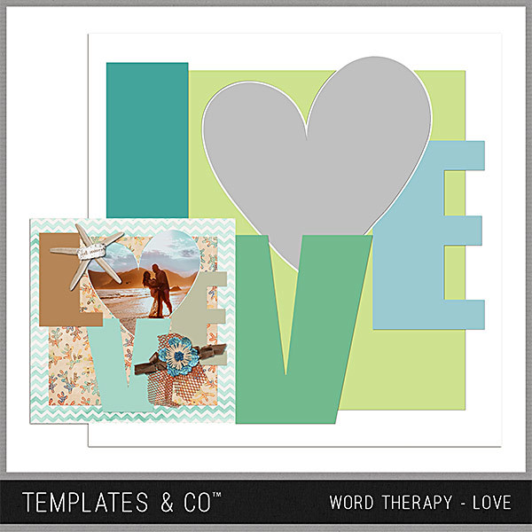 Word Therapy - Love Digital Art - Digital Scrapbooking Kits