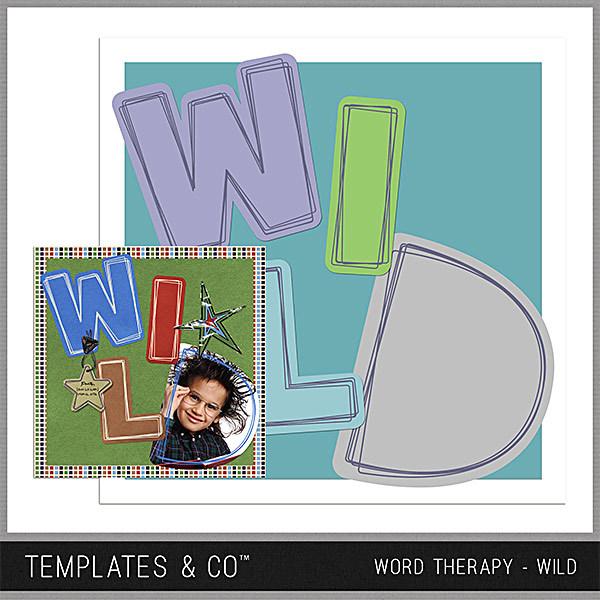 Word Therapy - Wild Digital Art - Digital Scrapbooking Kits
