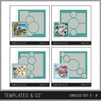 Singled Out 5-8 Bundle Digital Art - Digital Scrapbooking Kits