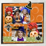 Frightful Halloween 12x12 Page Print Templates