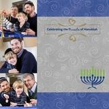 Hanukkah 12x12 Page Print Templates