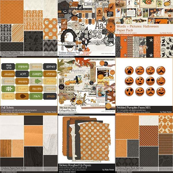 Trickery Scrapbooking Bundle Digital Art - Digital Scrapbooking Kits