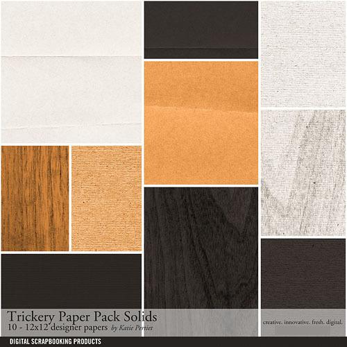 Trickery Solids Paper Pack Digital Art - Digital Scrapbooking Kits