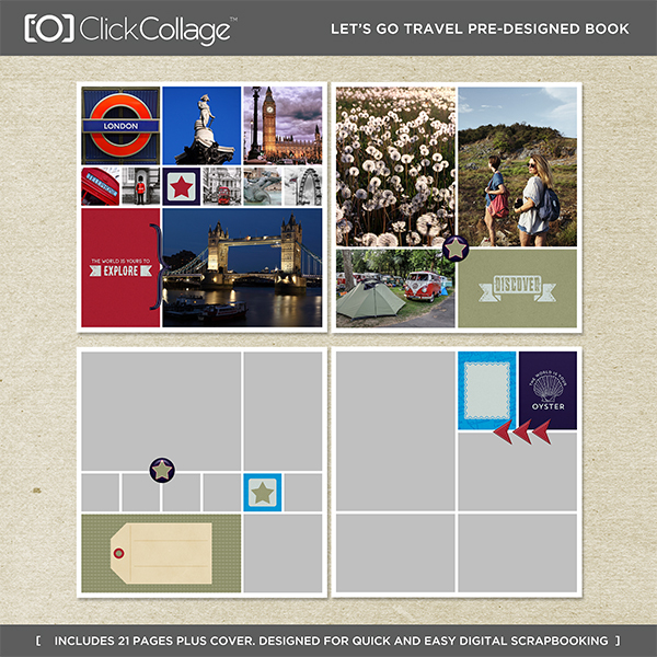 Let's Go Travel Pre-designed Travel Book