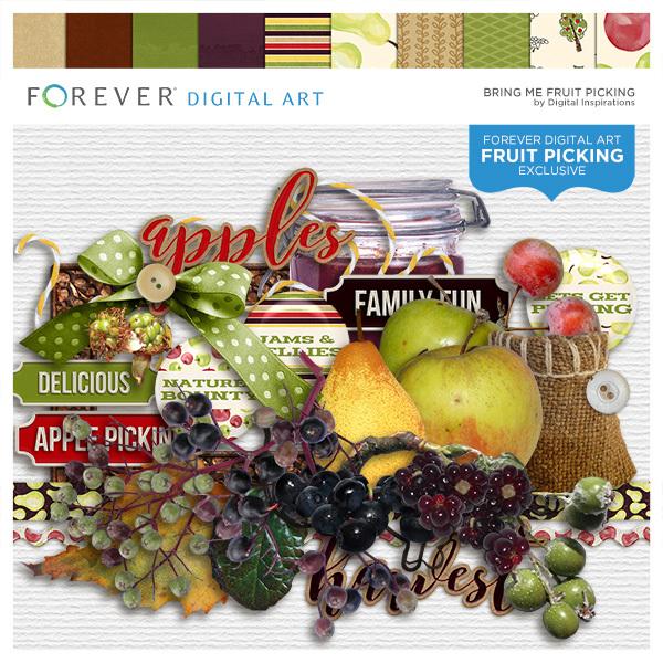 Bring Me Fruit Picking Digital Art - Digital Scrapbooking Kits