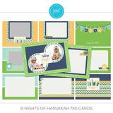 8 Nights Of Hanukkah 7x5 Cards