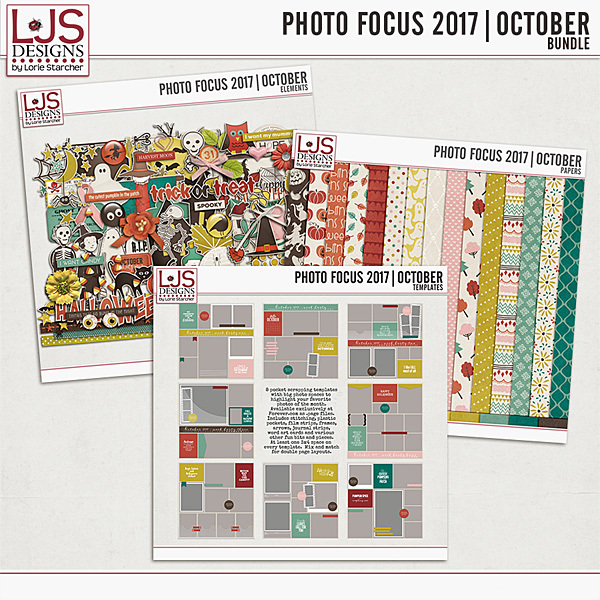 Photo Focus 2017 - October Bundle Digital Art - Digital Scrapbooking Kits