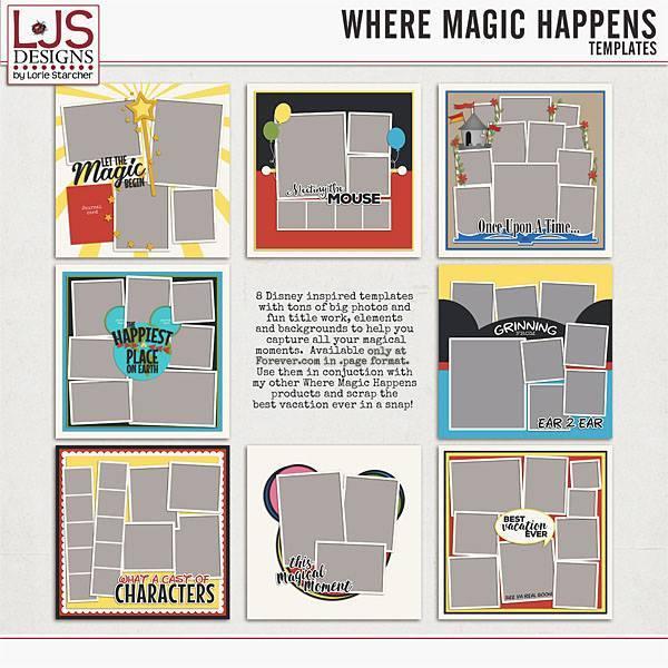 Where Magic Happens - Templates Digital Art - Digital Scrapbooking Kits