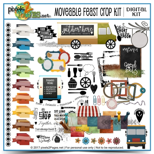 Moveable Feast Crop Kit Digital Art - Digital Scrapbooking Kits
