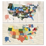 USA Map, States And Titles