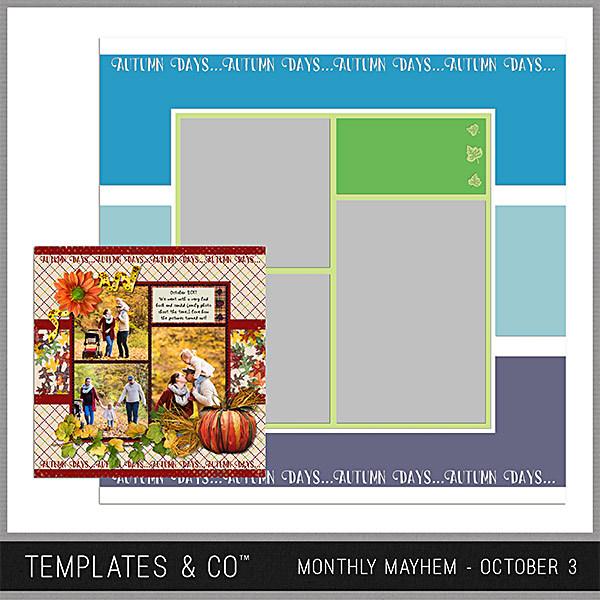 Monthly Mayhem October 3 Digital Art - Digital Scrapbooking Kits