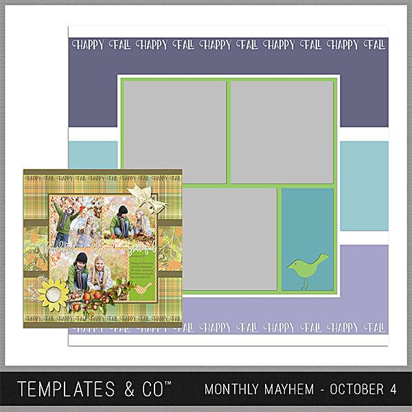Monthly Mayhem October 4 Digital Art - Digital Scrapbooking Kits