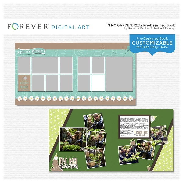 In My Garden Pre-designed Book Digital Art - Digital Scrapbooking Kits
