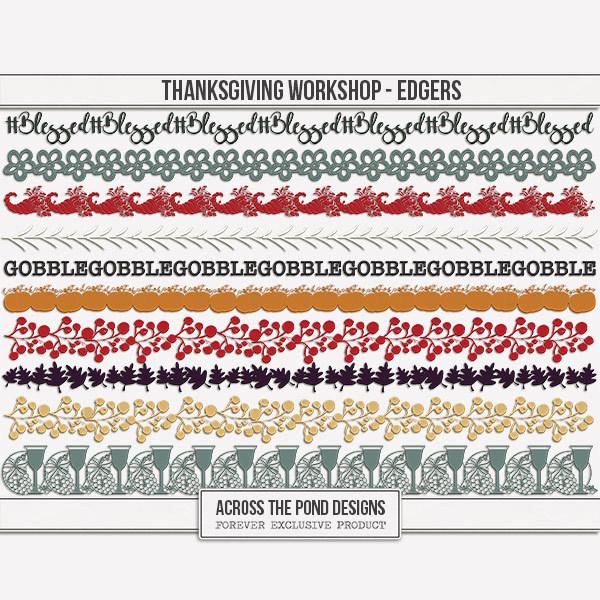 Thanksgiving Workshop - Edgers Digital Art - Digital Scrapbooking Kits