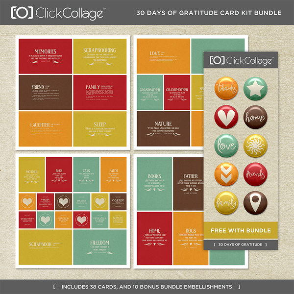 30 Days Of Gratitude Card Kit Bundle