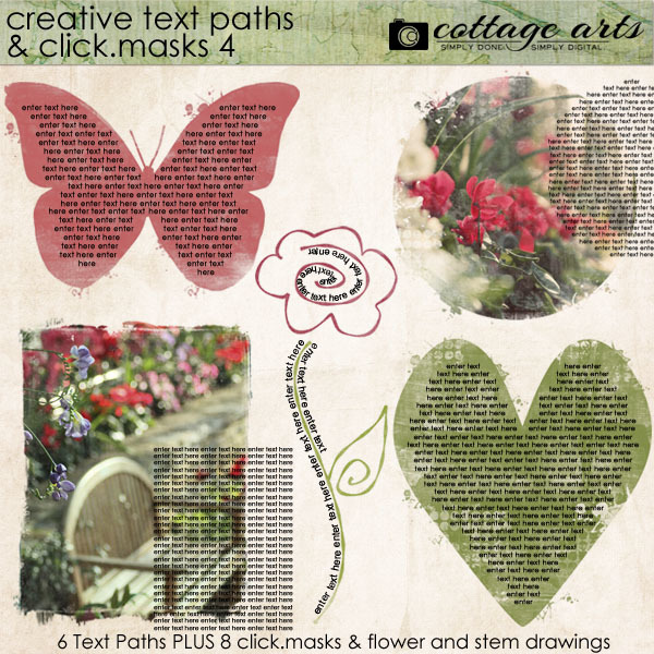 Creative Text Paths - Click.masks 4 Digital Art - Digital Scrapbooking Kits