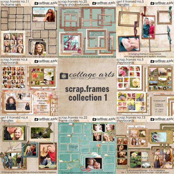 Scrap.Frames Collection 1  Digital Art - Digital Scrapbooking Kits