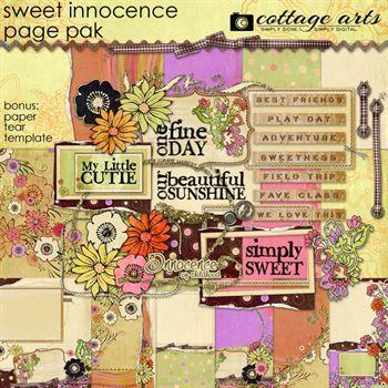 Sweet Innocence Page Pak Digital Art - Digital Scrapbooking Kits