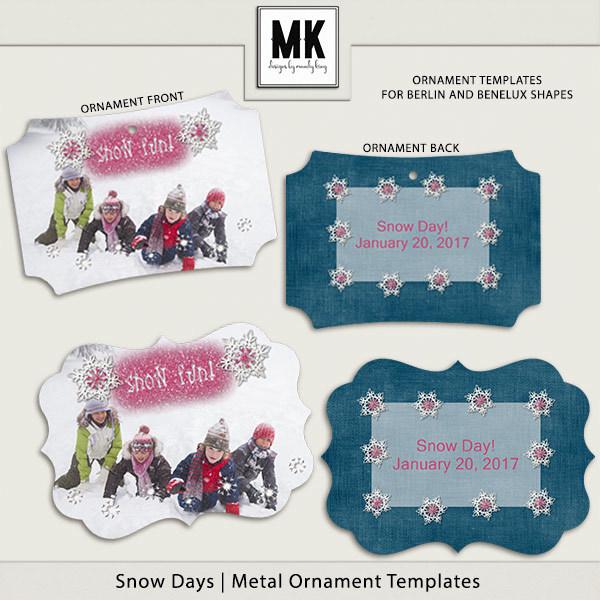 Snow Day Ornaments Digital Art - Digital Scrapbooking Kits