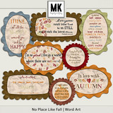 There's No Place Like Fall - Word Art