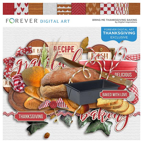 Bring Me Thanksgiving Baking Digital Art - Digital Scrapbooking Kits