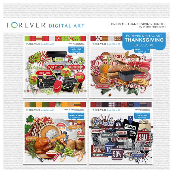 Bring Me Thanksgiving Bundle Digital Art - Digital Scrapbooking Kits