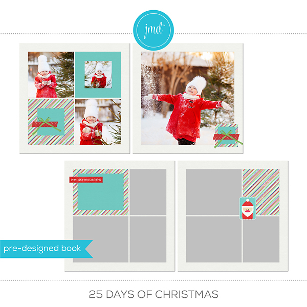 25 Days Of Christmas Digital Art - Digital Scrapbooking Kits