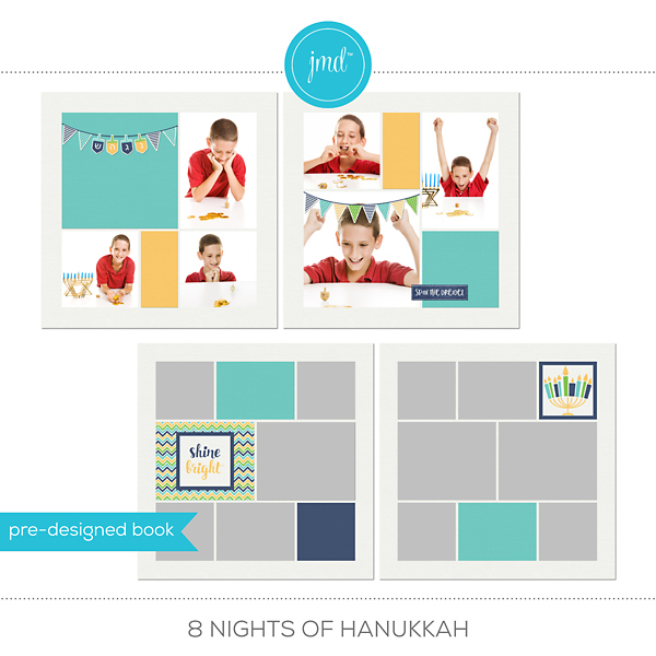 8 Nights Of Hanukkah Digital Art - Digital Scrapbooking Kits