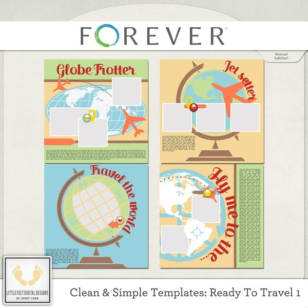 Clean And Simple Templates - Ready To Travel 1 Digital Art - Digital Scrapbooking Kits