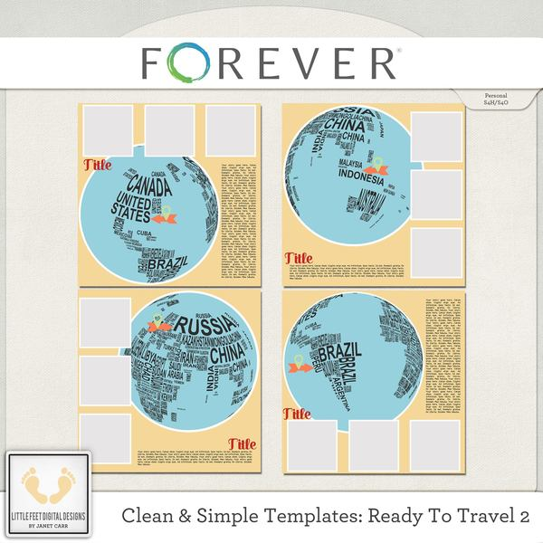 Clean And Simple Templates - Ready To Travel 2 Digital Art - Digital Scrapbooking Kits