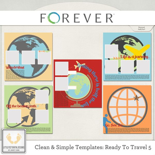 Clean And Simple Templates - Ready To Travel 5 Digital Art - Digital Scrapbooking Kits