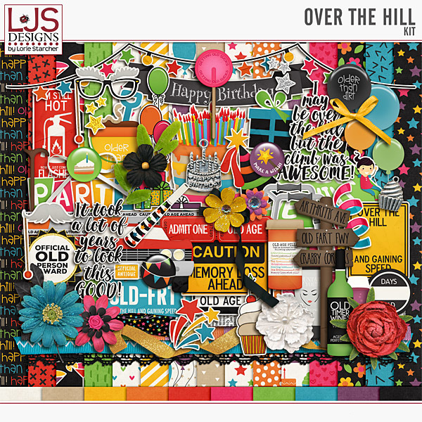 Over The Hill - Kit Digital Art - Digital Scrapbooking Kits