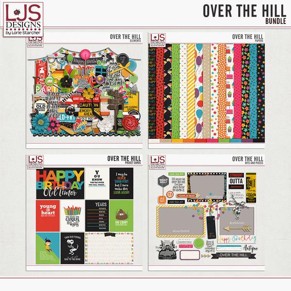 Over The Hill - Bundle Digital Art - Digital Scrapbooking Kits