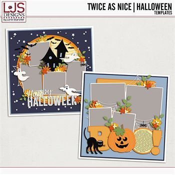 Twice As Nice - Halloween Templates Digital Art - Digital Scrapbooking Kits