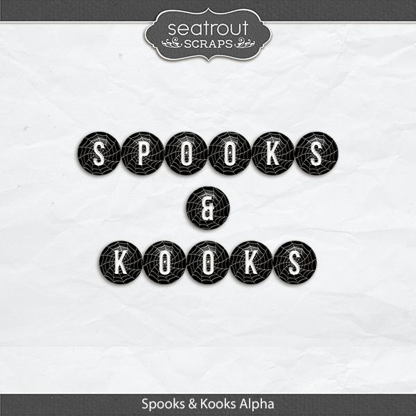 Spooks And Kooks Alpha Set Digital Art - Digital Scrapbooking Kits