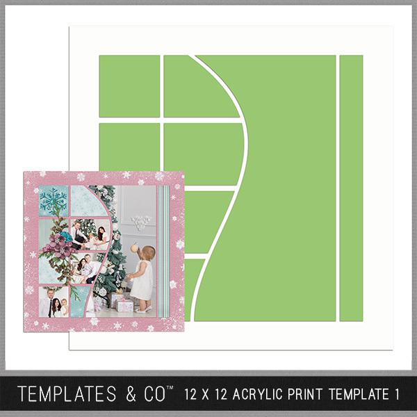12 X 12 Acrylic Print Template 1 Digital Art - Digital Scrapbooking Kits