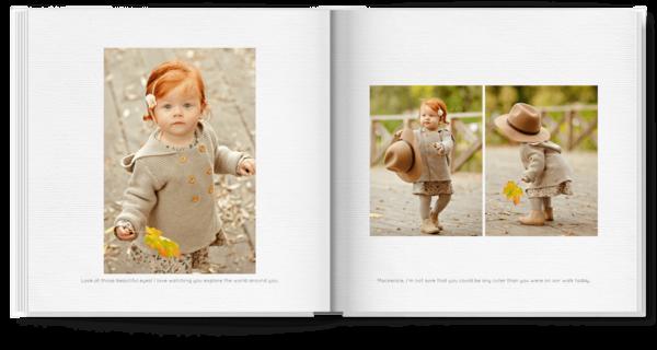 Simple White Photo Book