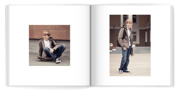 Classic White Photo Book