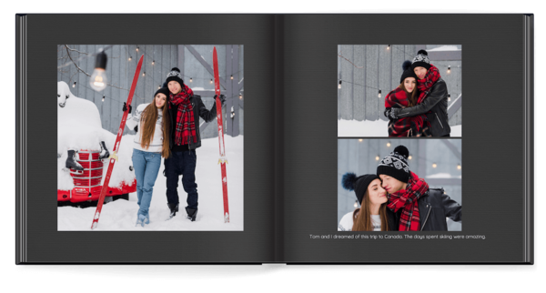 Simple Black Photo Book
