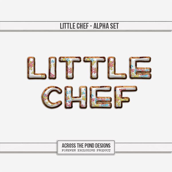 Little Chef - Alpha Digital Art - Digital Scrapbooking Kits