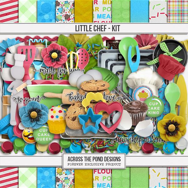 Little Chef - Page Kit Digital Art - Digital Scrapbooking Kits