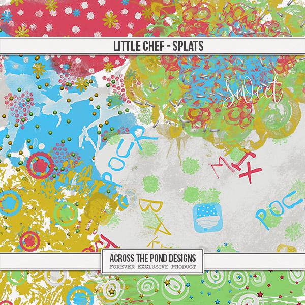 Little Chef - Splats Digital Art - Digital Scrapbooking Kits