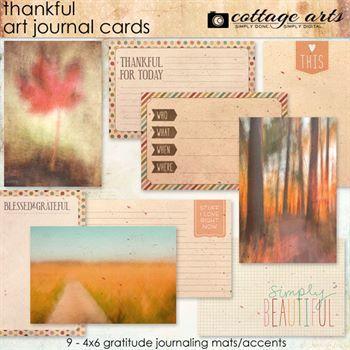 Thankful Art Journal Cards Digital Art - Digital Scrapbooking Kits