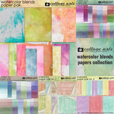 Watercolor Blends Papers Collection