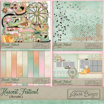Harvest Festival Bundle Digital Art - Digital Scrapbooking Kits