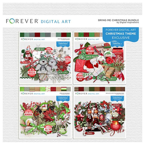 Bring Me Christmas Bundle Digital Art - Digital Scrapbooking Kits