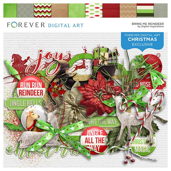 Bring Me Reindeer Digital Art - Digital Scrapbooking Kits