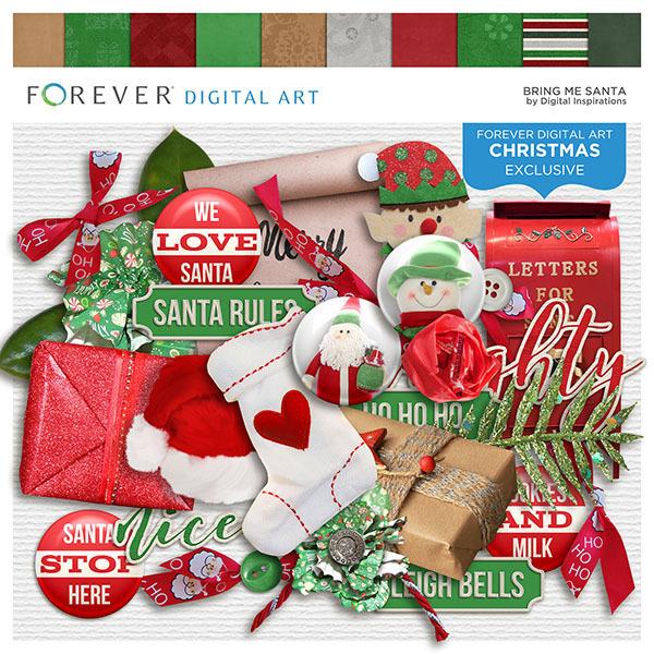 Bring Me Santa Digital Art - Digital Scrapbooking Kits