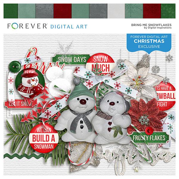 Bring Me Snowflakes Digital Art - Digital Scrapbooking Kits