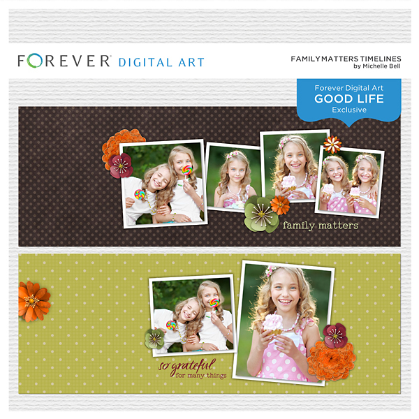 Family Matters Timelines Digital Art - Digital Scrapbooking Kits